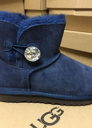 Женские сапоги ugg mini bailey button bling blue