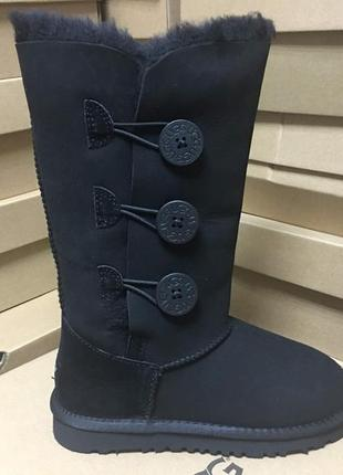 Женские сапоги ugg bailey button triplet black