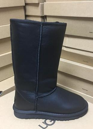 Женские сапоги ugg classic tall metallic black