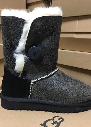 Женские сапоги ugg bailey button bomber grey