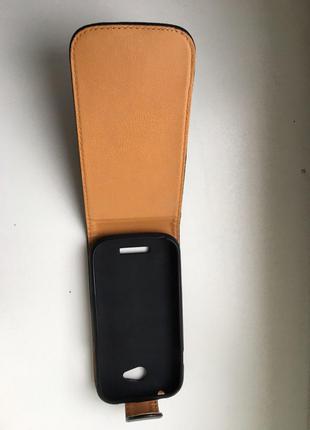 Чехол для Lenovo A706 Cover Flip Черный