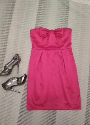 Шикарное платье бюстье розовое