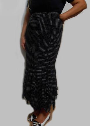 Длинная шифоновая летящая юбка макси пин-ап карандаш русалочка...