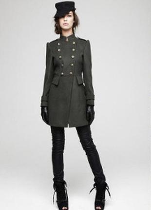 Пальто шинель бушлат тренч в стиле милитари  военный стиль шер...