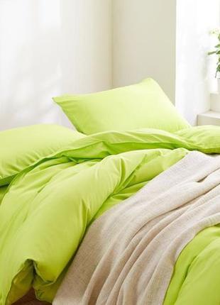 Зелена однотонна постільна білизна