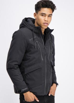 Новая мужская спортивная тёплая куртка с капюшоном new yorker