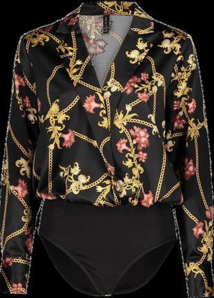 Новая женская атласная блуза, комбидресс, боди new yorker