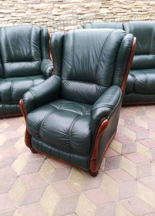 Кожаный гарнитур Кожаная мягкая мебель с Европы Кожаный диван