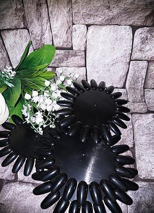 Палитра ромашка дисплей черная для гель лака