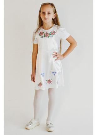 Святкова біла вишита сукня плаття з вишивкою праздничное плать...