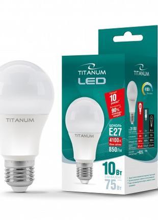 LED лампа A60 10W E27 4100K TITANUM ТLA6010274