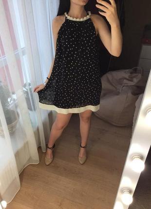 Летнее легкое шифоновое платье в звезды fervente