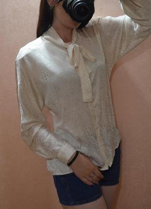 Элегантная блузка летучая мышь кремового цвета stmichael