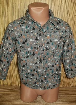 Рубашка для мальчика на 18-24 мес с длинным рукавом