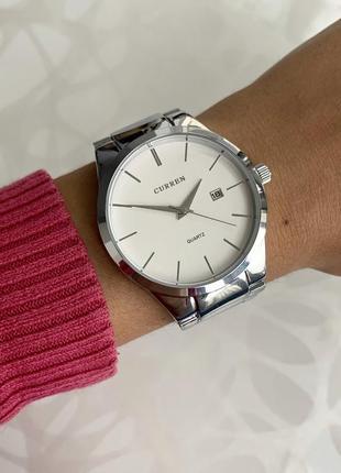 Женские наручные металлические часы curren каррен серебристые ...