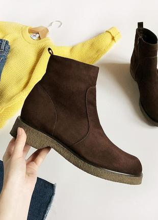Нереальные натуральные зимние ботинки челси caiman