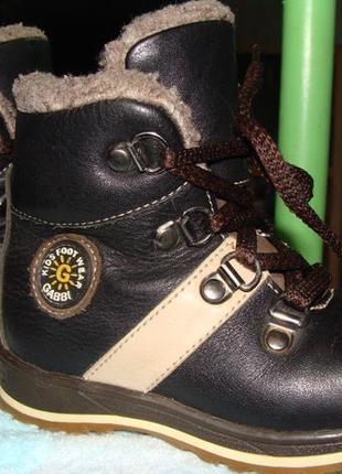 Зимние кожаные ботинки Fess, сапоги 24 размер, стелька 15см