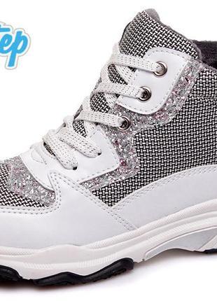 Хайтопы деми ботинки weestep на флисе с супинатором демі черевики