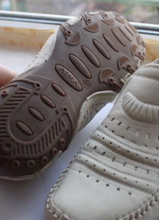 Кожанные мужские туфли летние
