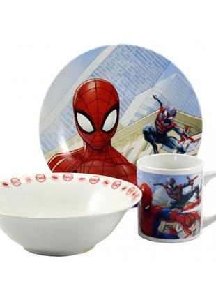 Детский набор посуды 3 предмета 4949-7 Спайдермен