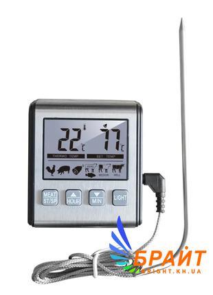 Термометр таймер для духовки ТP-710 с выносным датчиком (нержа...
