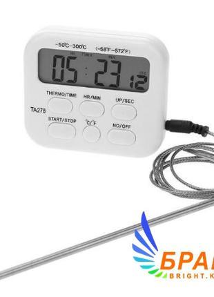 Цифровой термометр таймер ТА278 для духовки с выносным датчико...