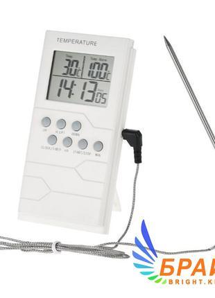 Термометр таймер ТP-800 для духовки с выносным датчиком и звук...