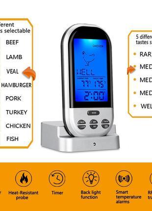 Безпроводной цифровой кухонный для духовки мяса с беспроводным...