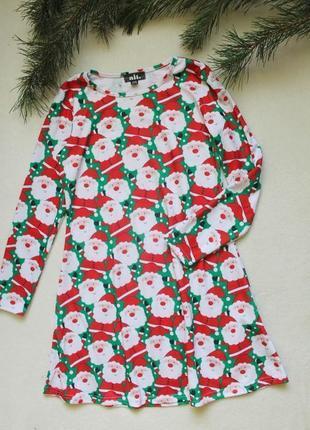 Детское новогоднее платье с дедами морозами от alt (103), 14-1...