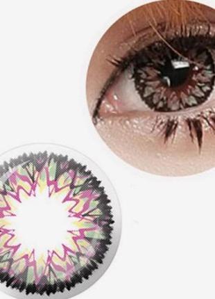 Линзы цветные для глаз фейерверк, розовые
