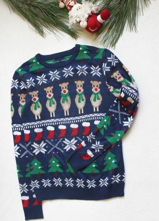 Женский новогодний свитер nutmeg (52), размер s