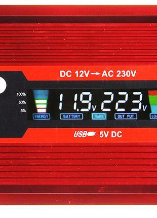 (УЦЕНКА) Преобразователь UKC авто инвертор 12V-220V 2000W LCD ...