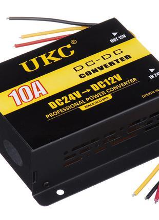 Инвертор (преобразователь напряжения) UKC DC/DC 24v-12v 10A (3...