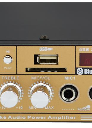 (УЦЕНКА) Усилитель звука UKC SN-606BT с радио и Bluetooth Gold...