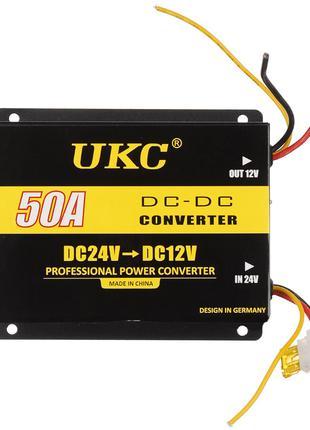 Инвертор (преобразователь напряжения) UKC DC/DC 24v-12v 50A (4...