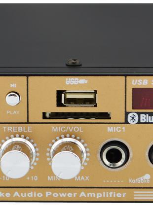 Усилитель звука UKC SN-606BT с радио и Bluetooth Gold (4826) У...