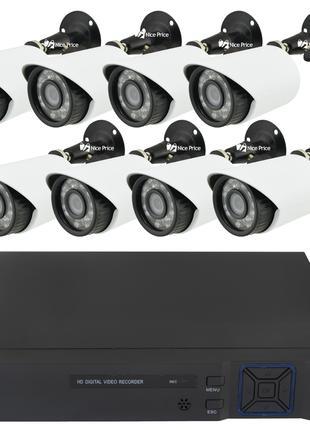 Комплект видеонаблюдения Melad на 8 камер 2 mp Full HD KIT (14...