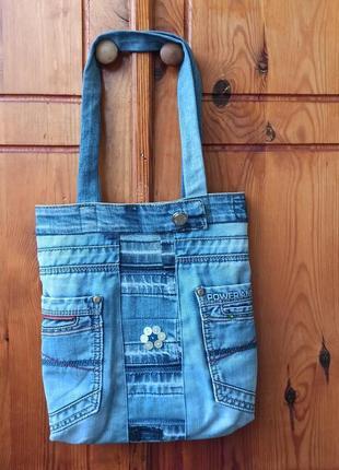 Сумка джинсовая handmade