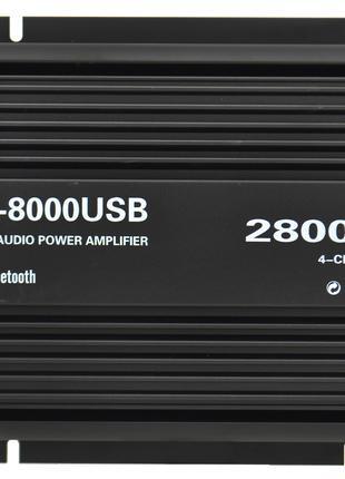 Автомобильный 4-канальный усилитель звука X-8000USB Bluetooth ...
