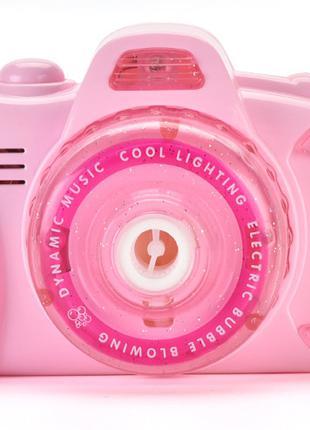 Детский фотоаппарат для мыльных пузырей BUBBLE CAMERA Pink (14...