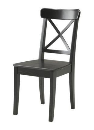 ИНГОЛЬФ Кресло, черно-коричневое, 30125923, ІКЕА, ИКЕА, INGOLF