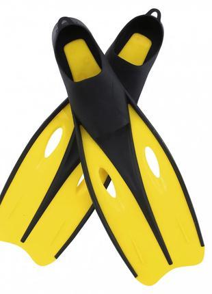 Ласты для плавания BW 27022 размер 38-39 , в сетке (Жёлтый)