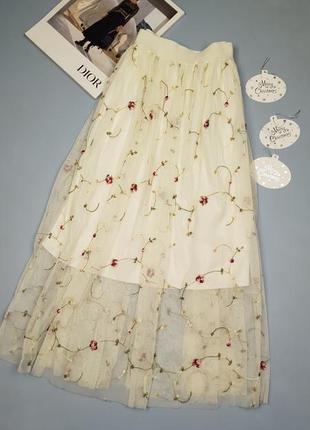 Нарядная юбка миди с вышивкой new look p.14