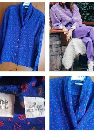 Шелковая, стильная рубашка, блуза фиолетового цвета от америка...