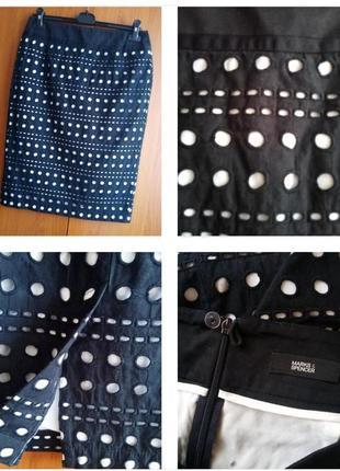 Классическая юбка карандаш в стиле кроше ! size 46-48