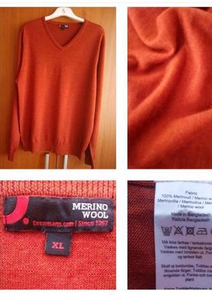 Стильный свитер, джемпер из 100% шерсти меринос !