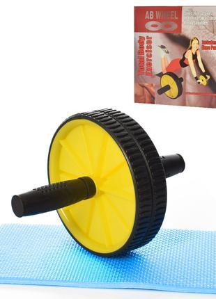 Тренажер колесо MS 3319 для мышц пресса