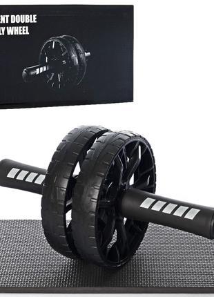 Тренажер для мышц пресса Колесо MS 3728 двойное