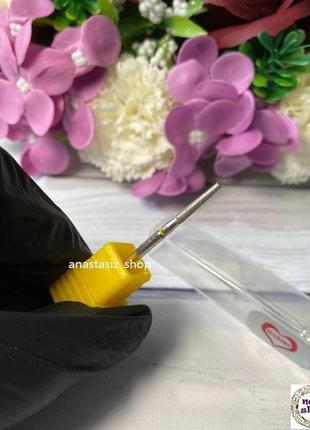 Фреза алмазная - усеченный конус, диаметр 2 мм, рабочая часть ...