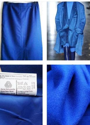 Шикарная юбка миди из 100% шерсти цвета индиго!